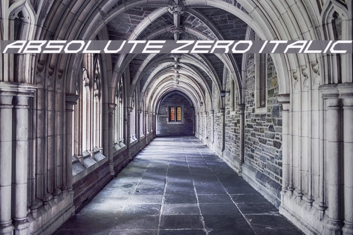 Absolute Zero Italic Font examples