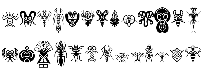 Abstract Alien Symbols फ़ॉन्ट अपरकेस