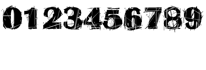 Abstract Rua Шрифта ДРУГИЕ символов