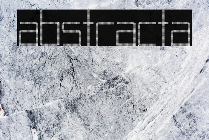 Abstracta फ़ॉन्ट examples