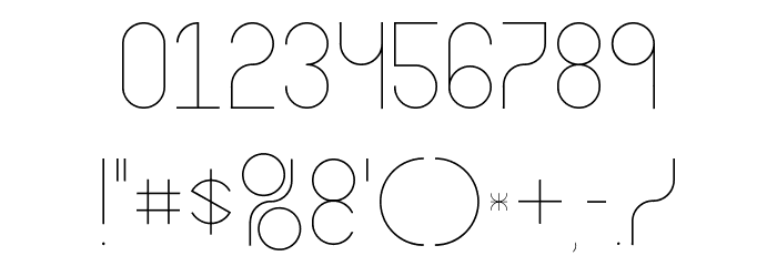 Abstracular Font OTHER CHARS
