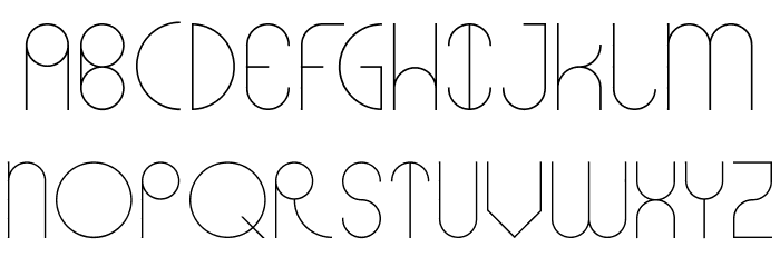 Abstracular Font UPPERCASE