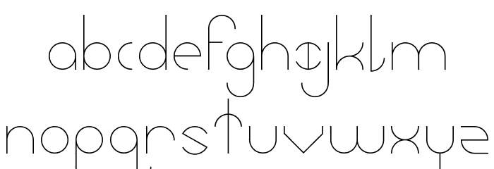 Abstracular Font LOWERCASE