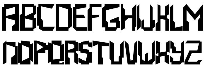 Abstrakt Font UPPERCASE