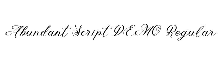 Abundant Script DEMO Regular  Скачать бесплатные шрифты