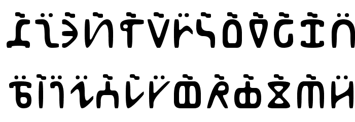 Abur フォント 大文字