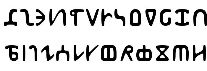Abur Font LOWERCASE