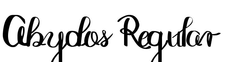 Abydos Regular  Free Fonts Download
