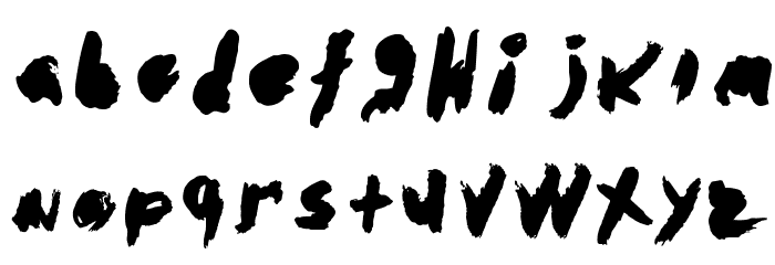 abstracto-Regular Font LOWERCASE