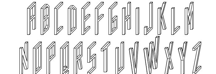 AC Framed Outline Шрифта ВЕРХНИЙ