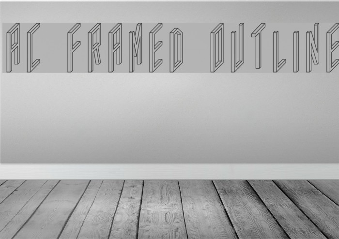 AC Framed Outline Шрифта examples
