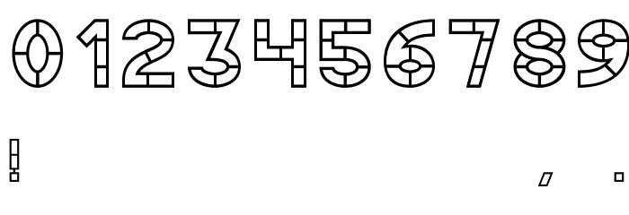 AC Thermes Outline Шрифта ДРУГИЕ символов