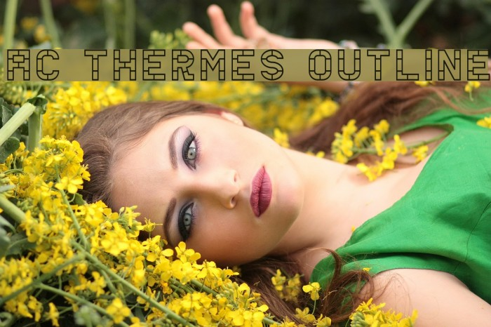 AC Thermes Outline Шрифта examples