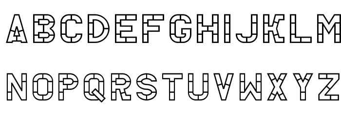 AC Thermes Outline Шрифта строчной