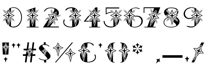 AC1 Star Шрифта ДРУГИЕ символов