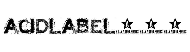 ACID LABEL___  font caratteri gratis