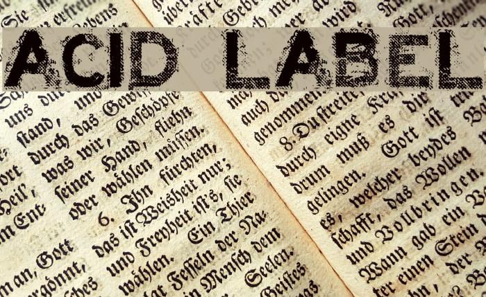 ACID LABEL___ Font examples