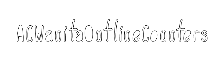 ACWanitaOutlineCounters  नि: शुल्क फ़ॉन्ट्स डाउनलोड