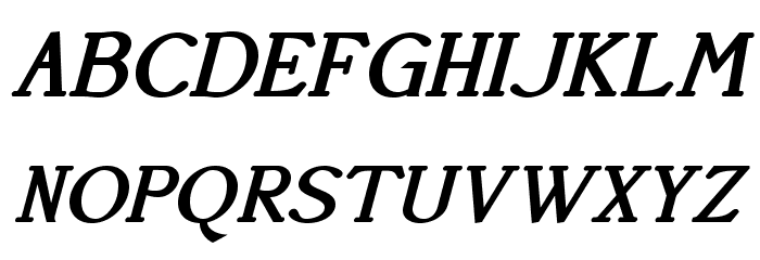 AccanthisADFStd-BoldItalic फ़ॉन्ट अपरकेस