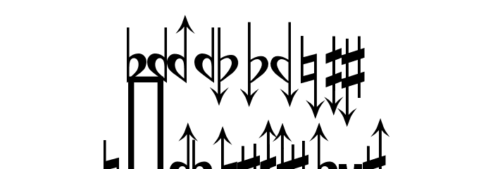 Accidentals Font LOWERCASE
