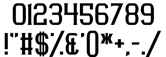 Acetate Font OTHER CHARS