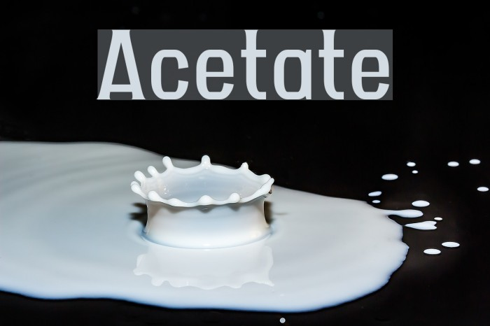 Acetate Шрифта examples