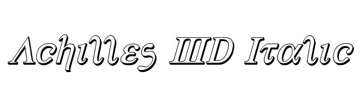 Achilles 3D Italic  नि: शुल्क फ़ॉन्ट्स डाउनलोड