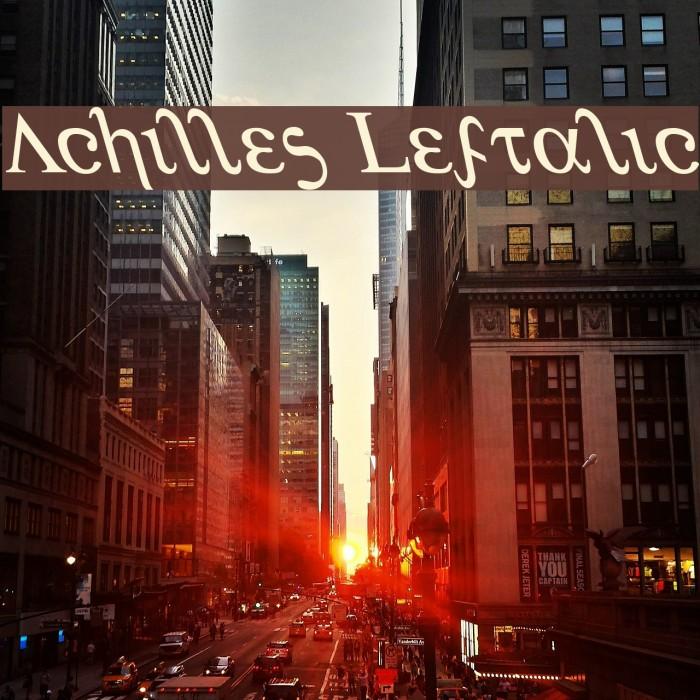 Achilles Leftalic Fonte examples