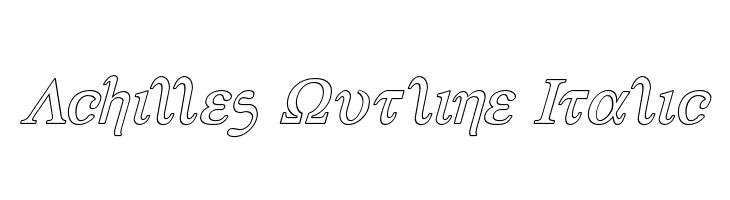 Achilles Outline Italic  Скачать бесплатные шрифты