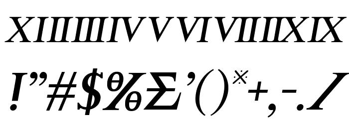 Achilles Semi-Italic フォント その他の文字