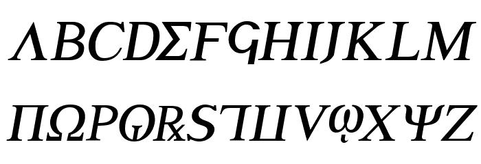 Achilles Semi-Italic フォント 大文字