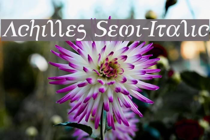 Achilles Semi-Italic フォント examples