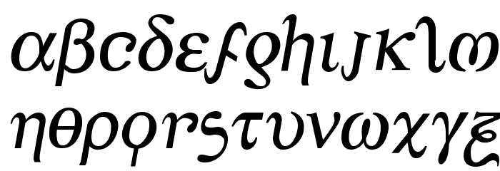 Achilles Semi-Italic フォント 小文字