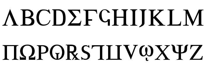 Achilles 字体 大写