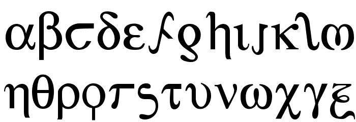 Achilles 字体 小写