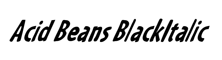 Acid Beans BlackItalic  Free Fonts Download