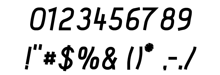 Acid Bold Italic フォント その他の文字