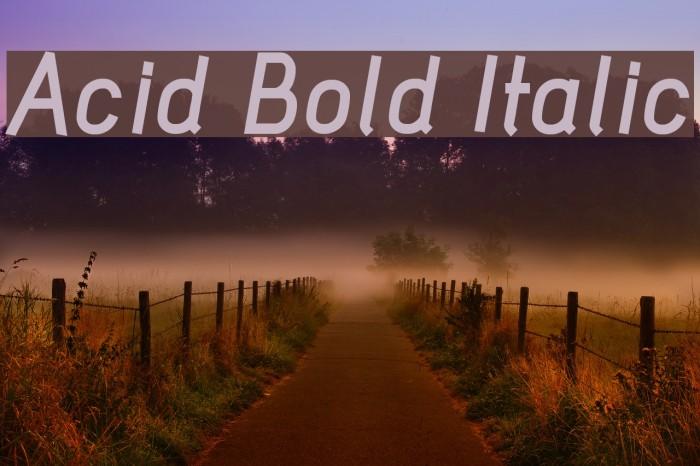 Acid Bold Italic फ़ॉन्ट examples