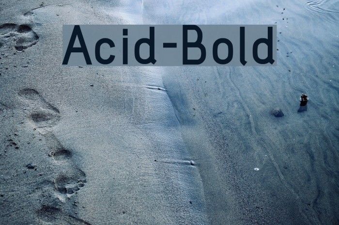 Acid-Bold フォント examples