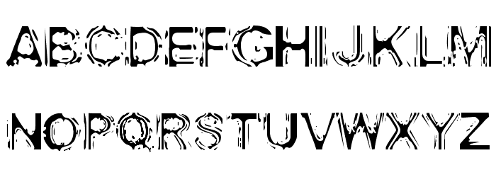 Acid House Font UPPERCASE