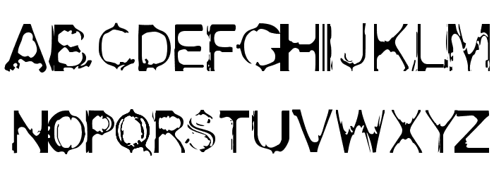 Acid House Font LOWERCASE