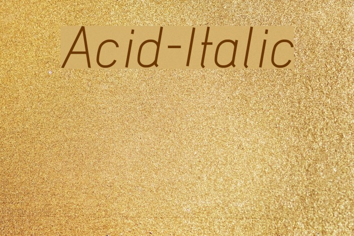 Acid-Italic Font examples