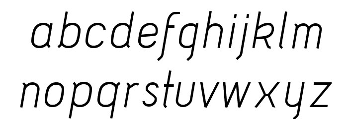 Acid-Italic फ़ॉन्ट लोअरकेस