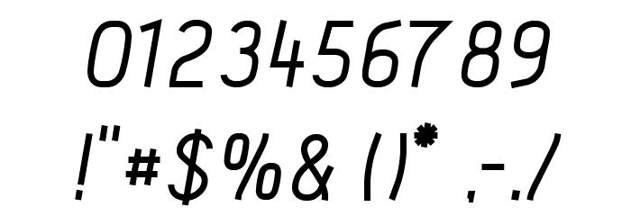 Acid Medium Italic Шрифта ДРУГИЕ символов