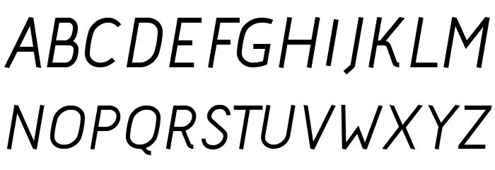 Acid Medium Italic फ़ॉन्ट अपरकेस