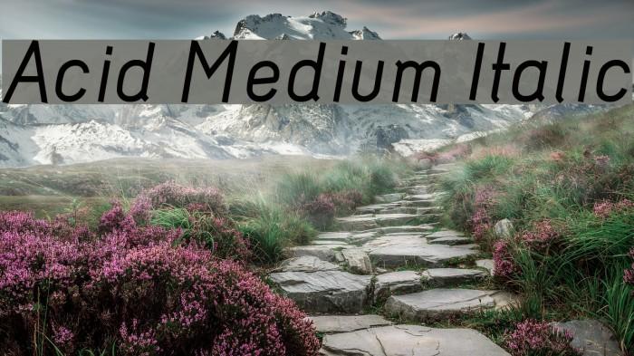 Acid Medium Italic Шрифта examples