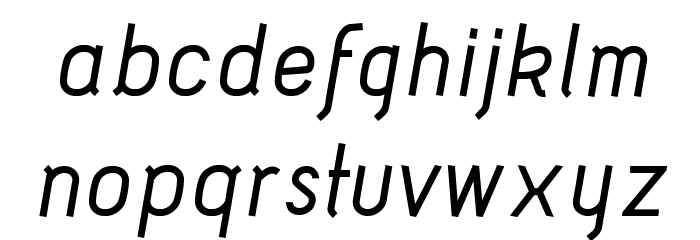 Acid Medium Italic Шрифта строчной