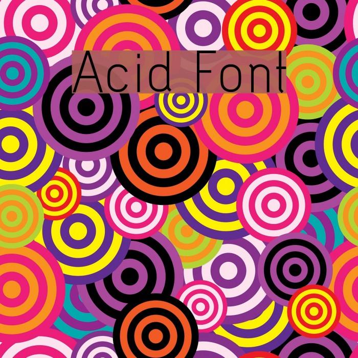 Acid Font examples