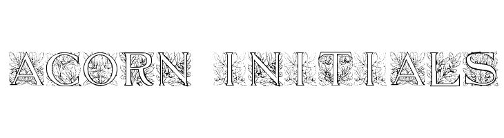 Acorn Initials  Descarca Fonturi Gratis