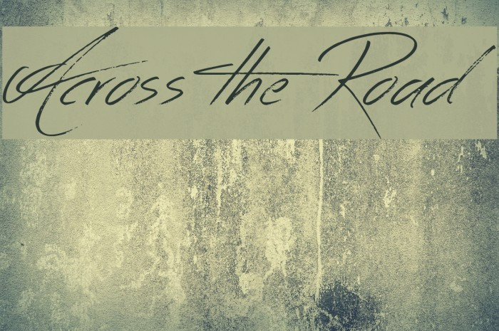 Across the Road Font examples